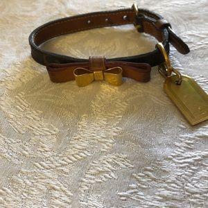 Louie Vuitton dog collar